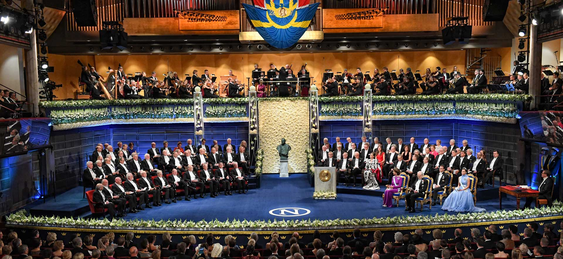 Nobel Prize Award Ceremony takes place at the Stockholm Concert Hall