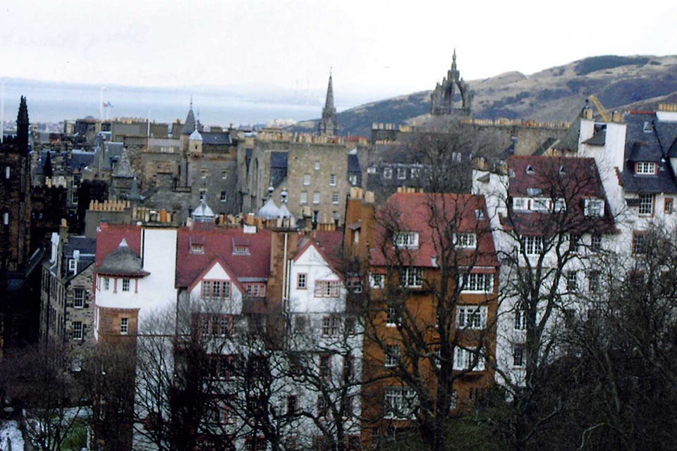 A row of buildings in Scotland