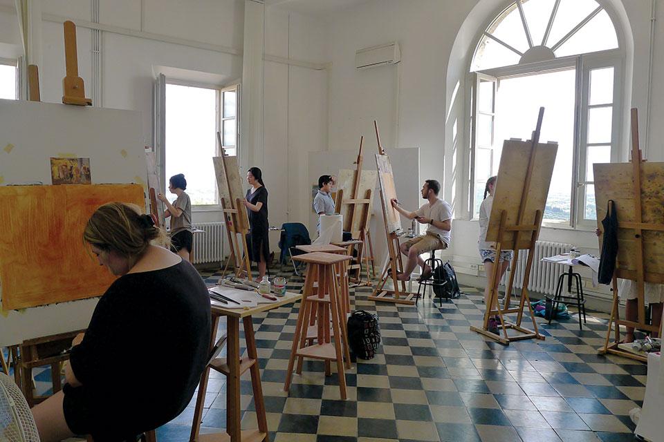 An art class in Siena, Italy
