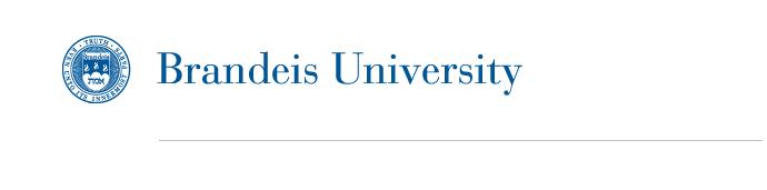 Brandeis University letterhead