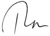 The word Ron in handwritten script