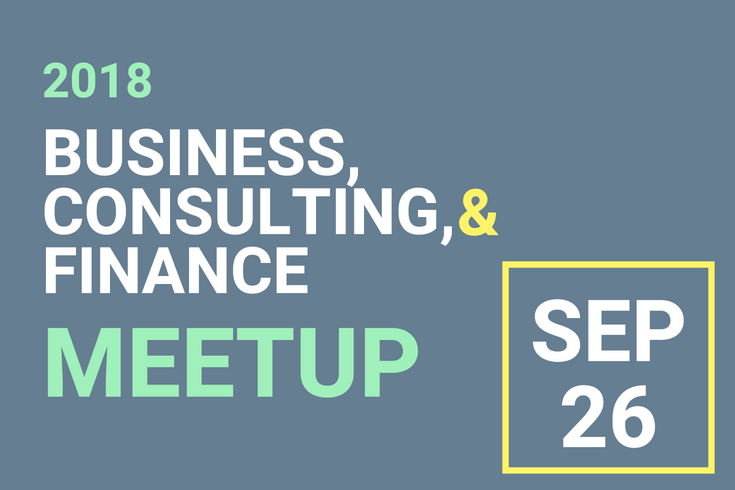 Event flyer for Brandeis Business, Consulting & Finance Industry Meetup