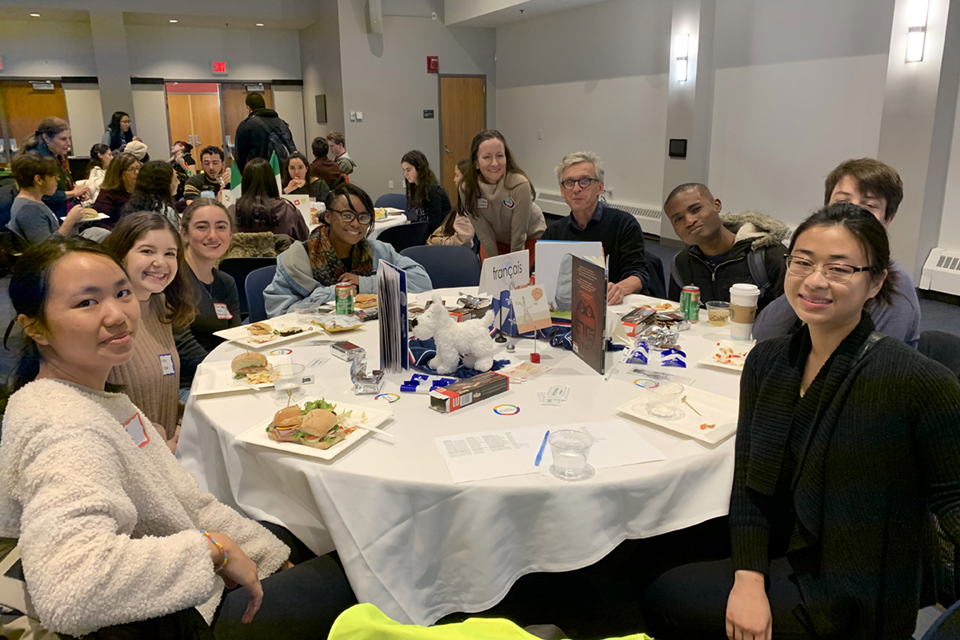 image of French speakers at the Mega Language Lunch 2019