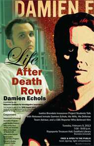 Damien Echols event February 5, 2013