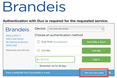 Duo Two-Factor Authentication | Accounts & Access | Information