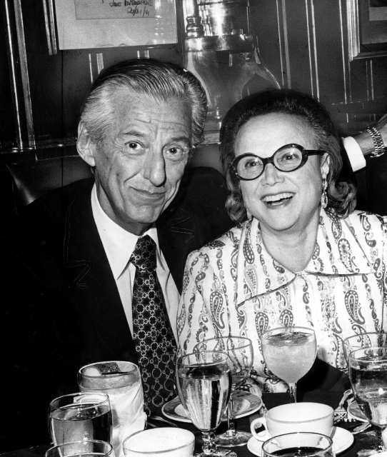 Lew and Edie Wasserman, in an undated photo