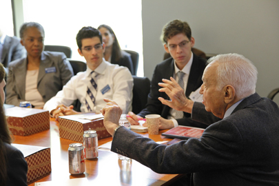mort mandel with students