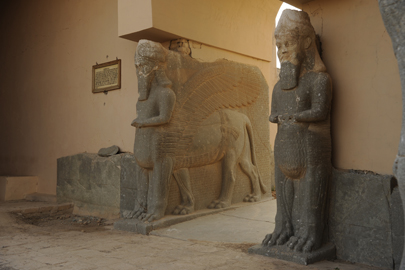 Portal guardians at the entrance to the Northwest palace in Nimrud