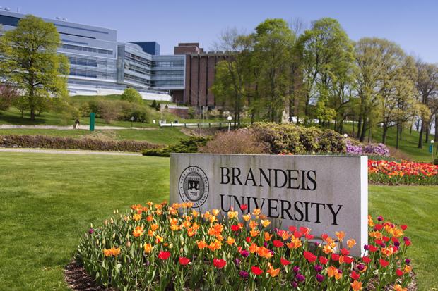 Brandeis university campus entrance
