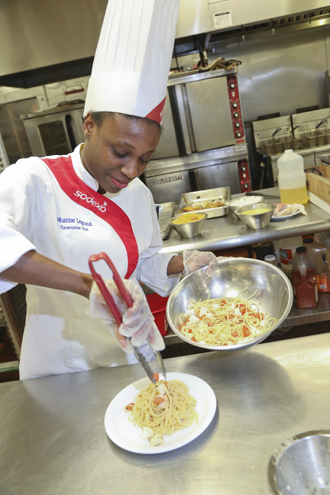 Lower Usdan executive chef Johanne Legrand whips up a recipe