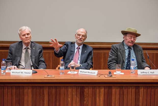 Michael Young, Michael Rosbash and Jeffrey Hall