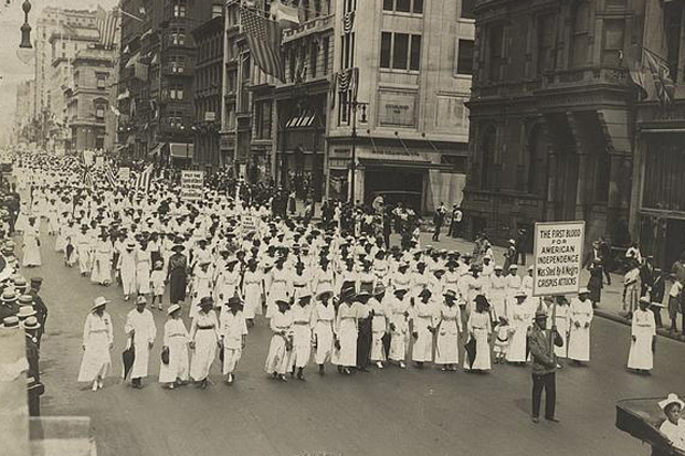 Silent protest parade in New York against the East St. Louis riots, 1917