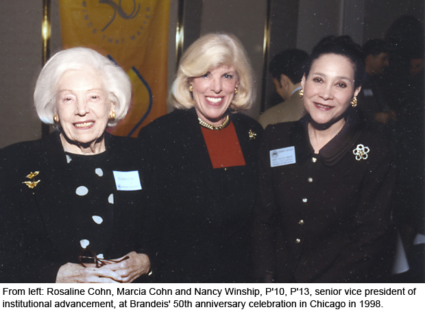 Rosaline and Marsha Cohn with Nancy Winship