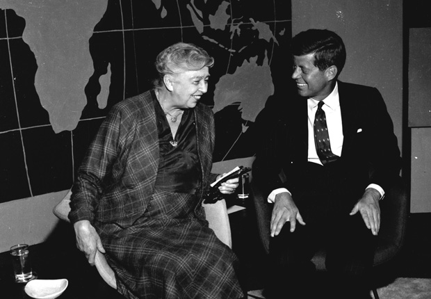 JFK and Eleanor Roosevelt