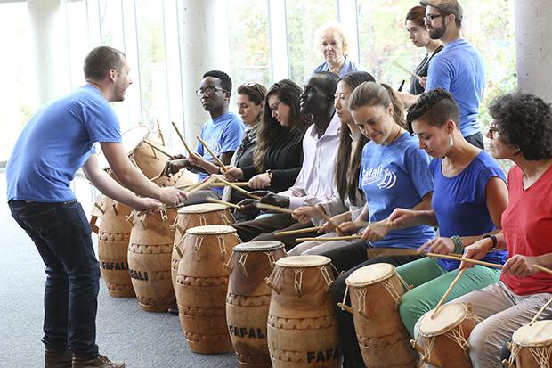 fafali drummers performing
