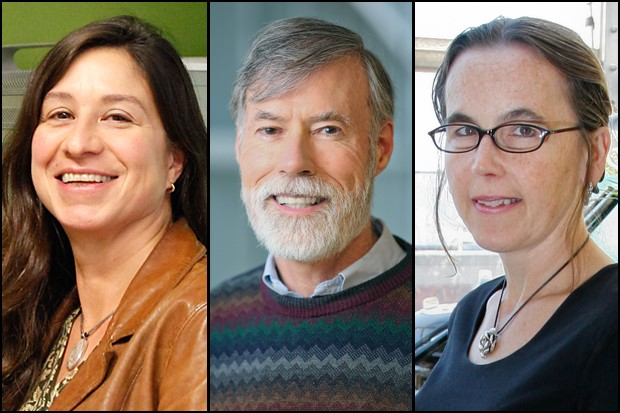 AAAS fellows Gina Turrigiano, Edward Hackett and Leslie Griffith