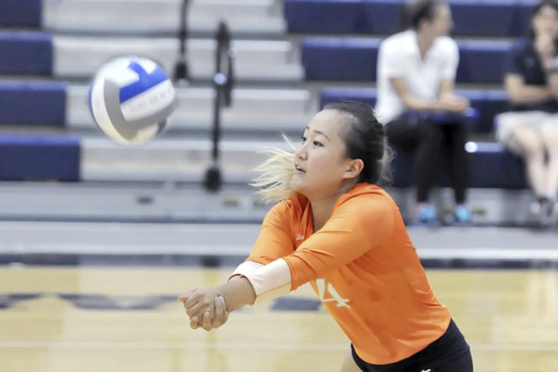 yvette cho playing volleyball