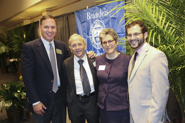 brandeis president ron liebowitz and sarna family