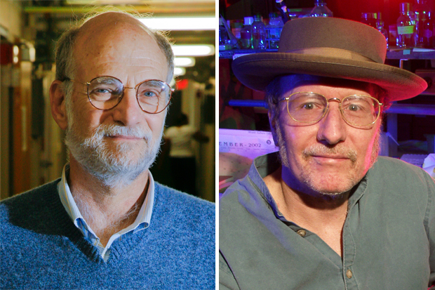 Michael Rosbash, the Peter Gruber Endowed Chair in Neuroscience and professor of biology, and Jeffrey C. Hall, professor emeritus of biology, winners of the 2017 Nobel Prize in Physiology or Medicine.