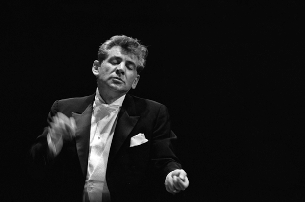 Leonard Bernstein conducting, courtesy of Sony Music Archives