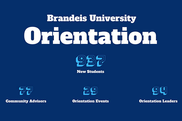 brandeis university orientation facts. There are 939 new students, 79 orientation leaders and 29 events