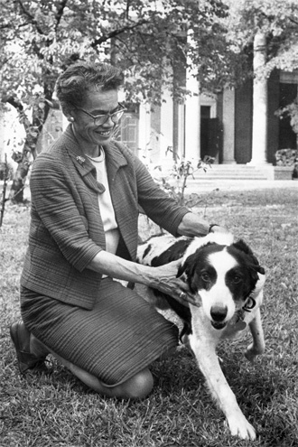 Pauli Murray with her dog