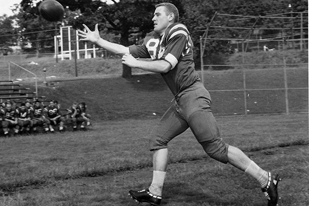 Mike Long '60, member of the Judges football team that went 6-1 in 1957.