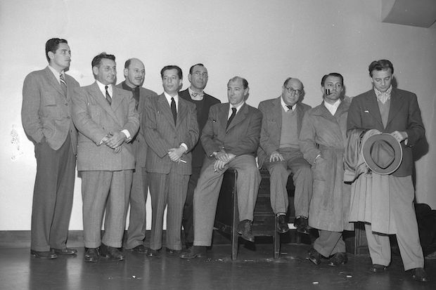 9 Members of the Hollywood 10. Photo from 1947