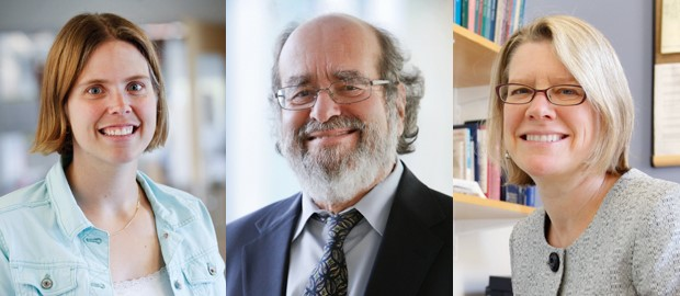 Professor of Biology Melissa Kosinski-Collins, Henry F. Fischbach Professor of Chemistry Irving Epstein, and Associate Provost for Academic Affairs Kim Godsoe.
