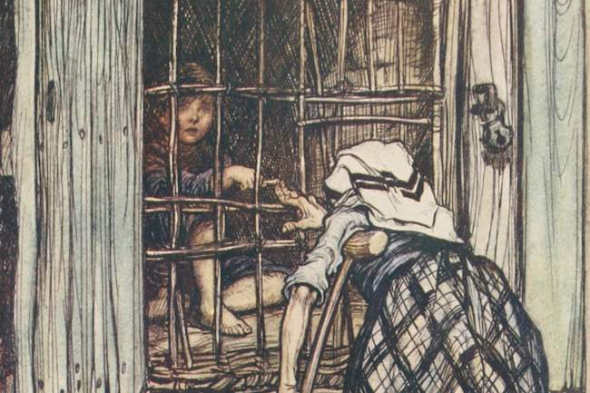 An illustration from Hansel and Gretel
