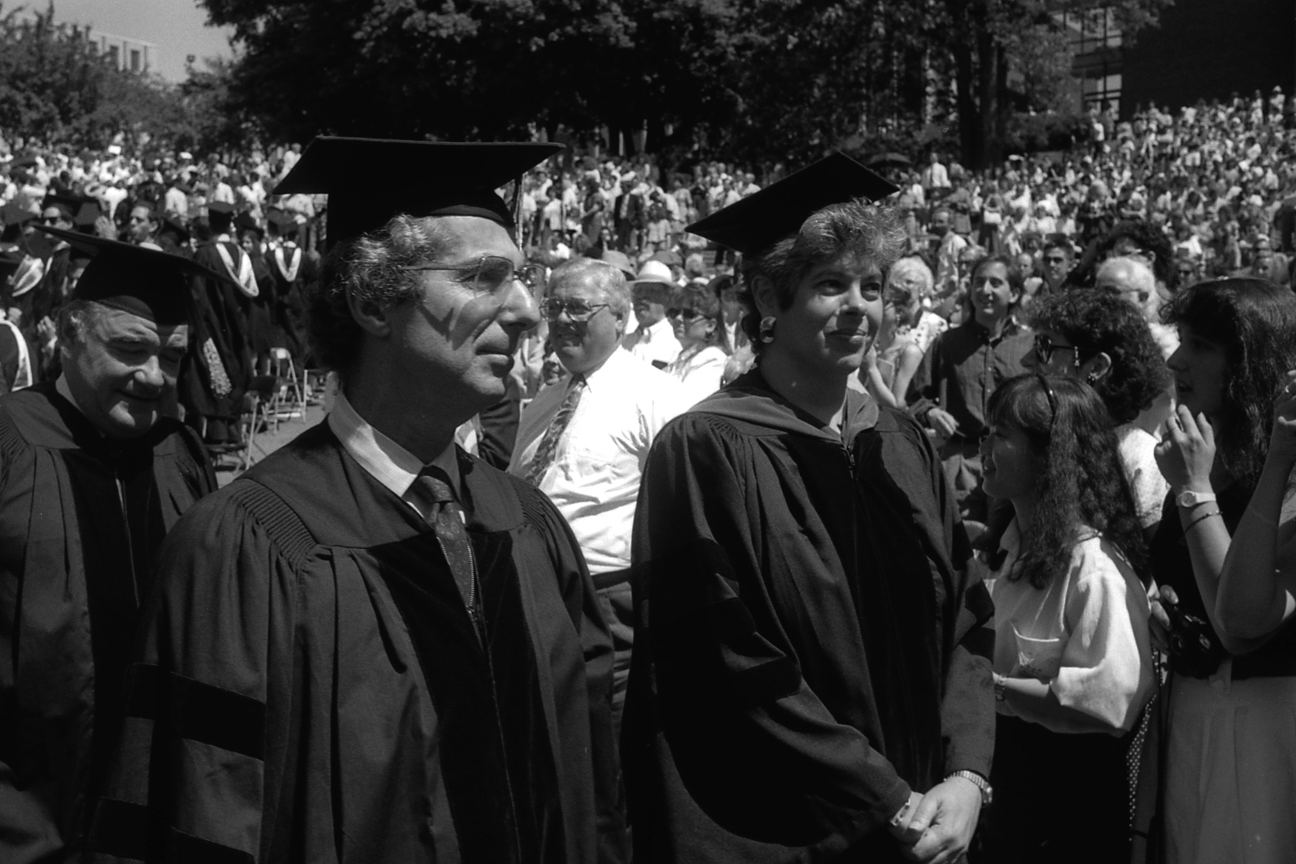 Philip Roth with Joyce Antler at 1991 Commencement