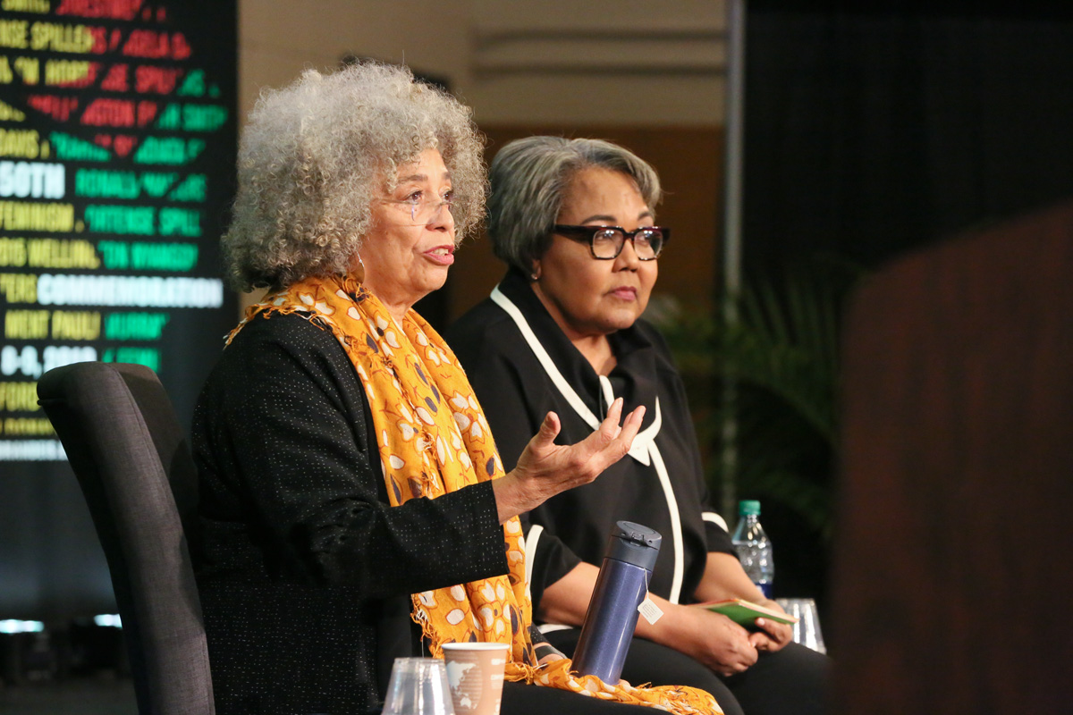 Angela Davis and Julienna Richardson
