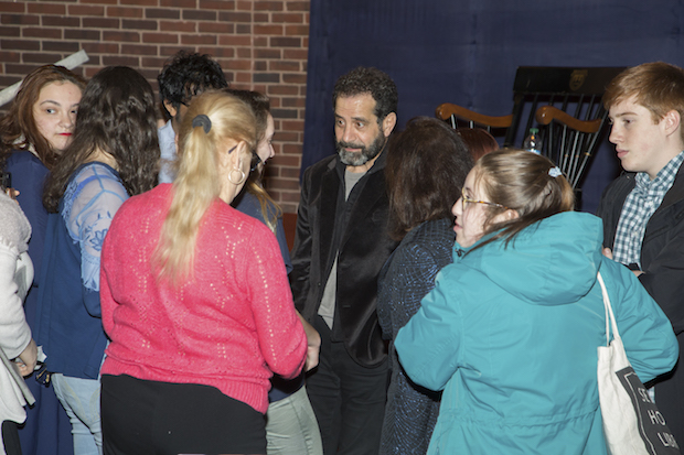 Tony Shalhoub speaking with students