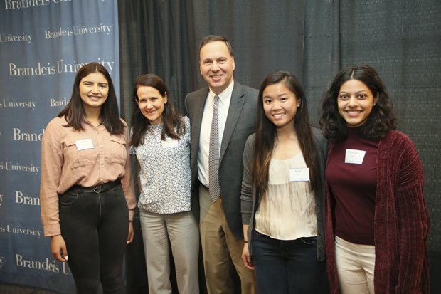 2019 Stroum Family Waltham Scholars with Ron and Jessica Liebowitz