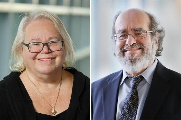 headshots of University Professors Eve Marder, left, and Irv Epstein