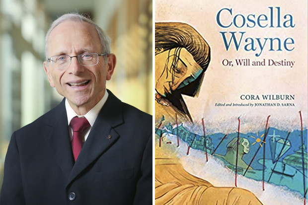 Jonathan Sarna and book cover for Cosella Wayne