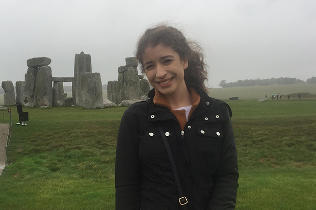 Lydia Begag at Stonehenge
