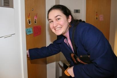 Alexandra Diener enters her room