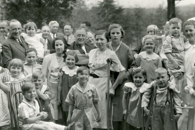 FDR with patients at The Pines at Berkeley Springs