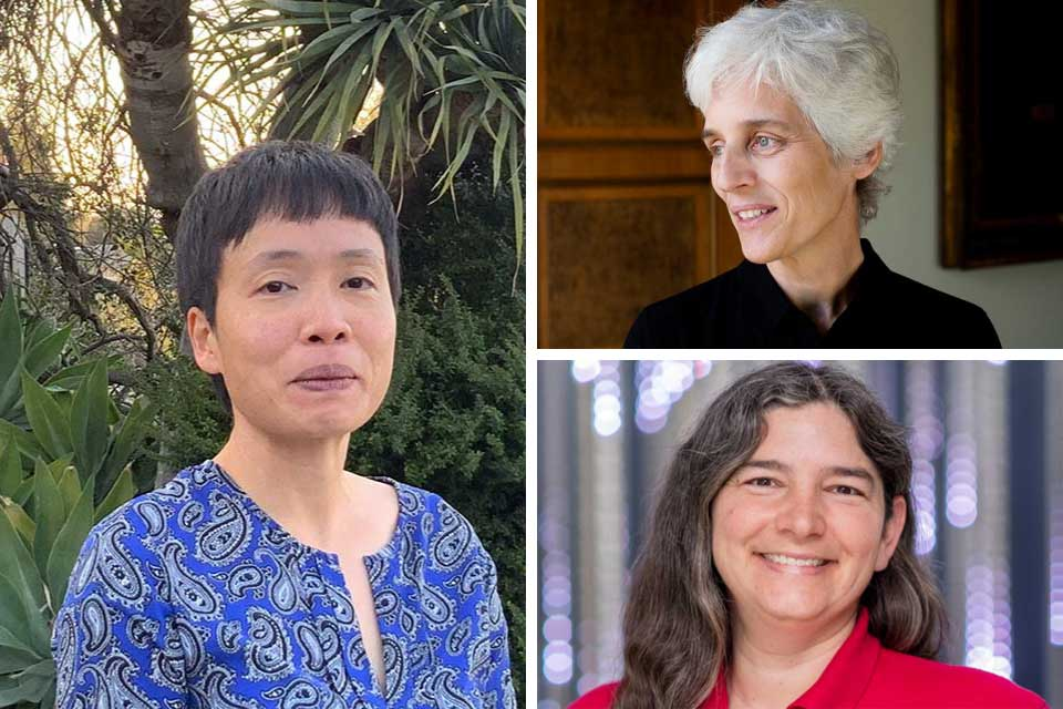 Clockwise from left: Ming Lee Tang '04, Ulrike Tillmann '85 and Rachel Zimmerman Brachman '95.