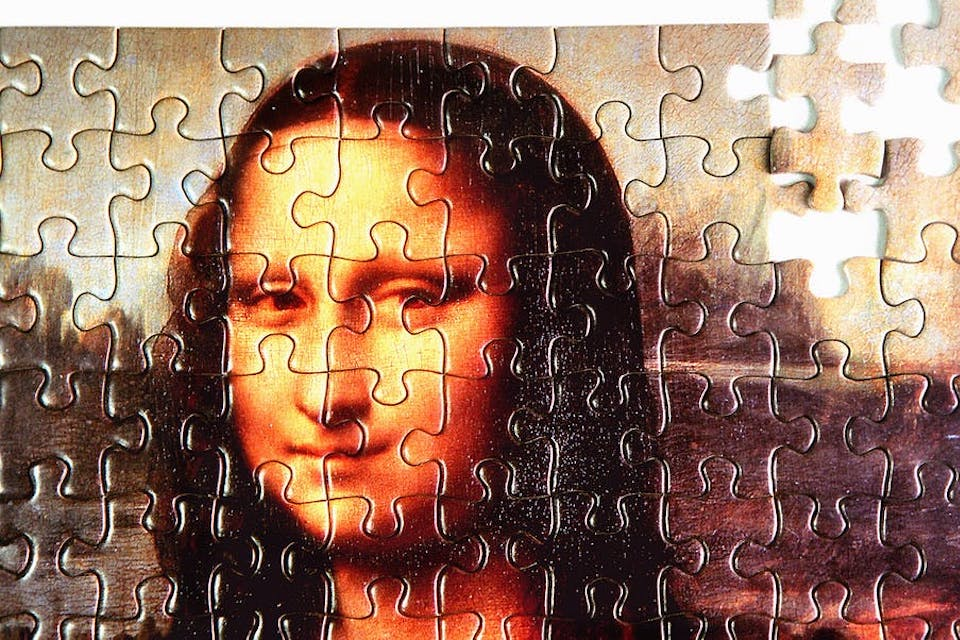A puzzle of Mona Lisa