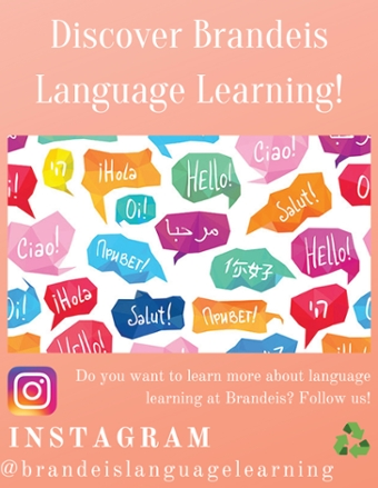 image of poster from WLC fellow inviting students to follow her on Facebook and Instagram