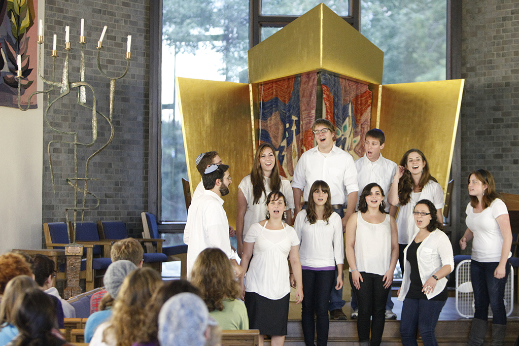Jewish students singing